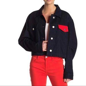 Current / Elliott Contrast Denim Jacket Sz 2 and 3